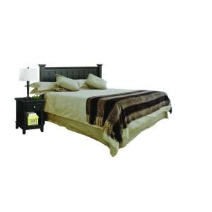 Home Styles Arts and Crafts Black Queen Headboard and Night Stand 5181 5015