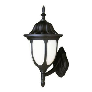 Filament Design Cabernet Collection 1 Light Outdoor Verde Green White Opal Shade Coach Lantern CLI WUP111232