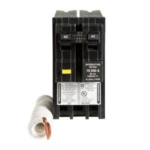 Square D by Schneider Electric Homeline 40 Amp Two Pole GFCI Circuit Breaker HOM240GFI