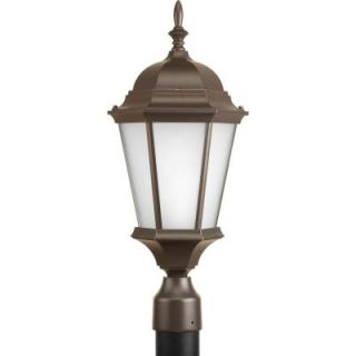 Progress Lighting Welbourne Collection 1 light Antique Bronze Fluorescent Post Lantern P5482 20EB