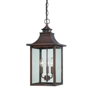 Acclaim Lighting St. Charles Collection Hanging Outdoor 3 Light Copper Pantina Light Fixture 8316CP