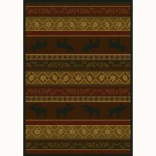 United Weavers Moose 7 ft. 10 in. x 10 ft. 6 in. Contemporary Lodge Area Rug 133 10743 811
