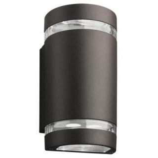 Lithonia Lighting Wall Mount Outdoor Dark Bronze LED Wall Cylinder Downlight OLLWU DDB M6