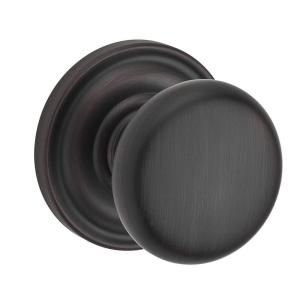 Baldwin Reserve Round Venetian Bronze Privacy Knob with Traditional Round Rose PV.ROU.TRR.112