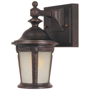 Hampton Bay Wall Mount Outdoor 5.25 in. Mystic Bronze Lantern HD798792