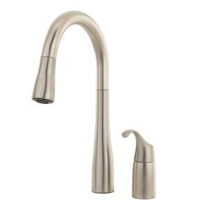 KOHLER Simplice Single Handle Pull Down Sprayer Kitchen Faucet in Vibrant Stainless K 649 VS