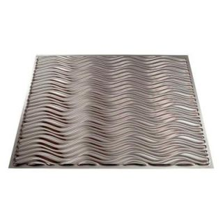 Fasade 4 ft. x 8 ft. Current Horizontal Brushed Nickel Wall Panel S73 29