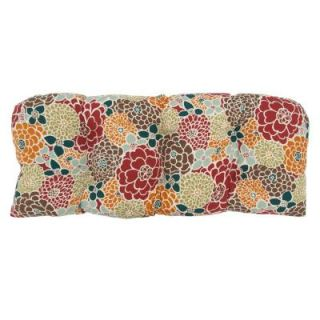 Hampton Bay Lois Floral Tufted Outdoor Bench Cushion DISCONTINUED 7426 01000300