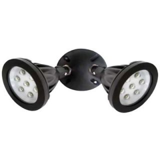 Designers Edge Wall Mount Outdoor LED Twin Head Flood Light   Die Cast Aluminum DISCONTINUED L1672BR