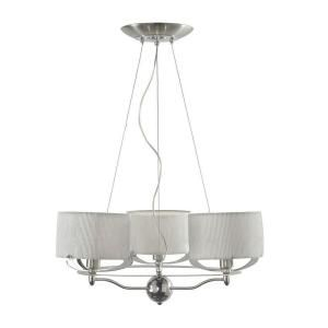 Hampton Bay Sully Collection Satin Nickel Finish 3 Light Chandelier DISCONTINUED CH 3SUL2 2N