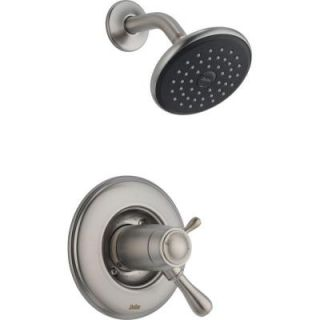 Delta Leland Single Handle Thermostatic Shower Faucet and Trim Kit Only in Stainless (Valve Not Included) T17T278 SS