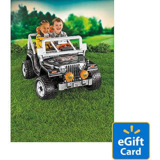 Fisher Price Power Wheels Black Tough Talkin Jeep 12 Volt