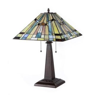 Chloe Lighting Kinsey 23 in. Tiffany Style Mission Bronze Table Lamp CH33293MS16 TL2