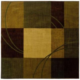 Eternity Nuance Blue and Brown 8 ft. Square Area Rug 340750