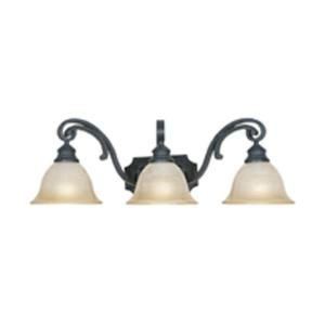 Designers Fountain Monte Carlo 3 Light Natural Iron Wall Light HC0370