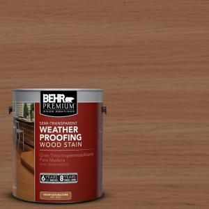 BEHR Premium 1 gal. #ST 152 Red Cedar Semi Transparent Weatherproofing Wood Stain 507701