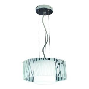 BAZZ Duo Leaf Collection Zebra Pattern Energy Star Pendant Light LU3212SB