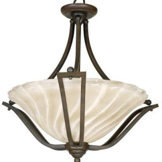Yosemite Home Decor Sierra Collection 3 Light Hanging Pendant FL9952 3DB