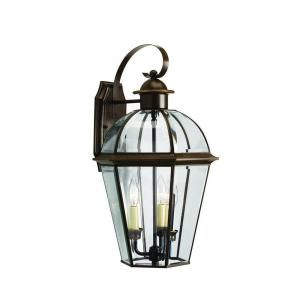 Progress Lighting Danbury Collection Antique Bronze 3 light Wall Lantern DISCONTINUED P5940 20