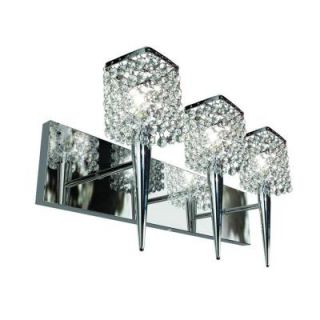BAZZ Glam Sephora 3 Light Brushed Chrome Wall Sconce M3023DC