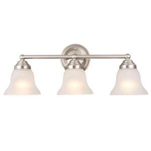 Hampton Bay 3 Light Brushed Nickel Vanity EGM1393A 4/BN