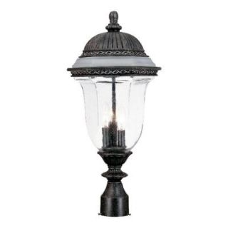 Acclaim Lighting Venice Collection Post Mount 3 Light Outdoor Stone Fixture 1317ST