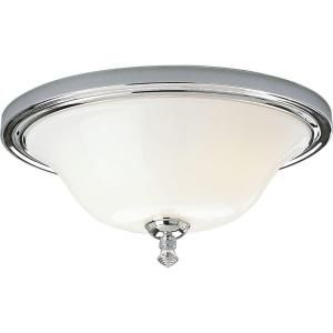 Progress Lighting Victorian Collection 2 Light Chrome Flush Mount P3326 15