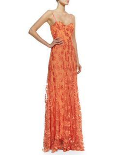 Womens Tyler Floral Lace Maxi Gown   Alice + Olivia