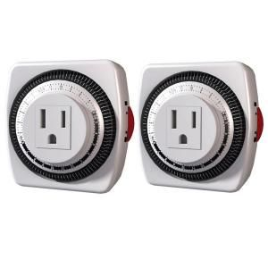 Stanley Time It Heavy Duty Indoor Grounded Timer (2 Pack) 156810