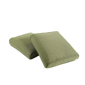 Hampton Bay Pembrey Replacement Outdoor Ottoman Cushion (2 Pack) HD14225