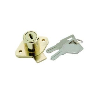 First Watch Security Polished Brass Keyed Alike Cabinet and Drawer Lock 1355 645