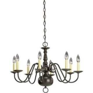 Progress Lighting Americana Collection 8 Light Antique Bronze Chandelier P4357 20