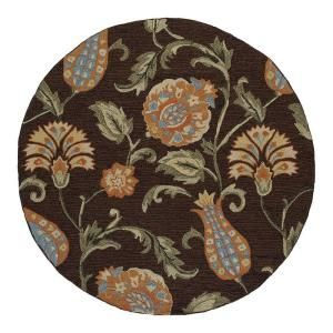 Kaleen Home & Porch Bona Bella Black 7 ft. 9 in. Round Area Rug 2014 02 7.9rnd