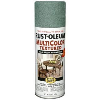 Rust Oleum Stops Rust 12 oz. Multi Colored Textured Sea Green Protective Enamel Spray Paint (6 Pack) 239119