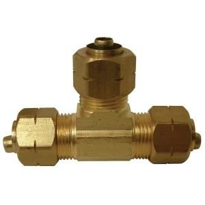 Watts 3/8 in. Lead Free Brass Compression Tee LF A114