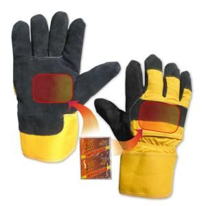 Heat Factory Heavy Duty Utility Glove in Black/Yellow Large 931 BK/Y  LG