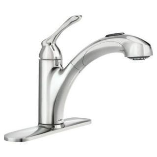 MOEN Banbury Single Handle Pull Out Sprayer Kitchen Faucet in Chrome 87017