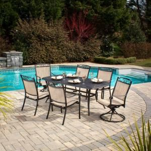 Hampton Bay Santa Maria 7 Piece Patio Dining Set S7 ADQ10800