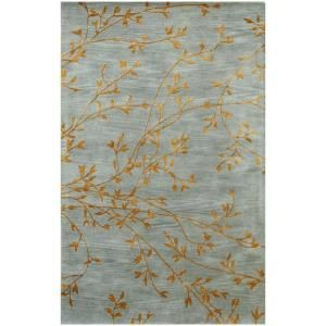 BASHIAN Greenwich Collection Spring Bursts Light Blue 2 ft. 6 in. x 8 ft. Area Rug R129 LBL 2.6X8 HG240