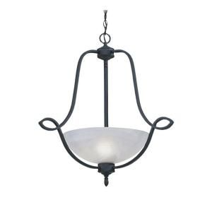 Designers Fountain Newburgh Collection 3 Light Natural Iron Hanging Pendant HC0990