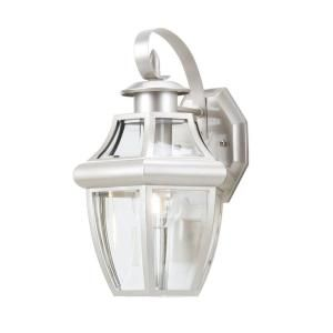 Hampton Bay Brushed Nickel 1 Light Outdoor Wall Lantern BPO1691N