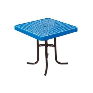 Ultra Play 36 in. Diamond Blue Commercial Park Square Low Food Court Portable Table PBK361L VB