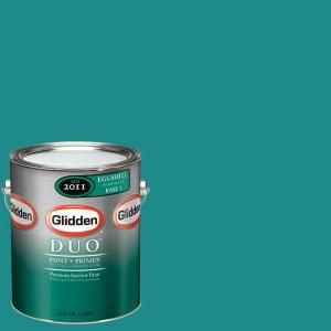 Glidden Team Colors 1 gal. #NFL 175D NFL Miami Dolphins Light Aqua Eggshell Interior Paint and Primer NFL 175D E 01