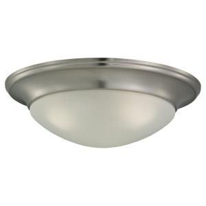Sea Gull Lighting Nash 3 Light Brushed Nickel Flush Mount Fixture 79436BLE 962