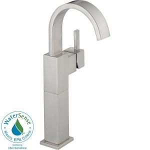 Delta Vero Single Hole 1 Handle High Arc Bathroom Faucet in Stainless 753LF SS