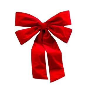 36 in. x 50 in. Commercial Red Velvet Bow VN36IN4LRD1P