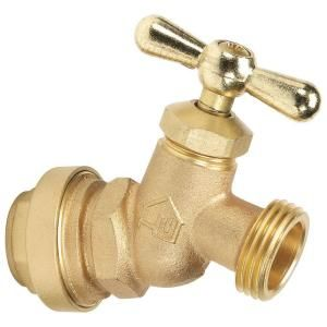 3/4 in. Brass No Kink Hose Bibb Valve with Push Fit Connections No Lead P181 8 34