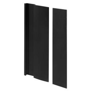 Prime Line Black Finish Door Cover Plate and Pull C 1063