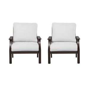 Hampton Bay Millstone Patio Deep Seating Chair with Bare Cushion (2 Pack) FCA65097 2pkBAR
