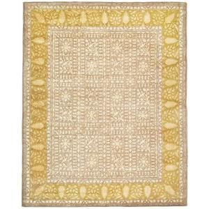 Safavieh Silk Road Beige and Light Gold 8 ft. 3 in. x 11 ft. Area Rug SKR214A 9